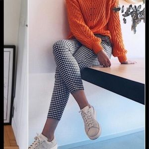 Zara Checkered Trousers